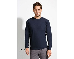 Tee-shirt couleur manches longues homme