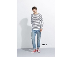 Tee-shirt manches longues rayé homme