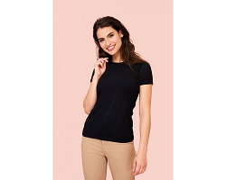 Tee-shirt promotionnel stretch femme couleur 190 g/m²
