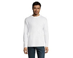 Tee-shirt blanc manches longues homme