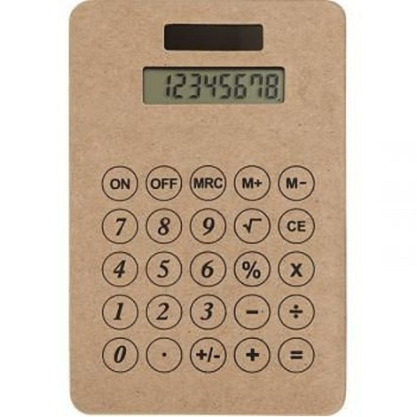 Calculatrice en carton recyclé